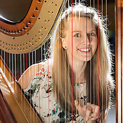 Abigail Syme (16) from Overtown was awarded 1st place in Non-traditional Clarsach/Pedal Harp Solos- open at Glasgow Music Festival in Renfield St Stephen&rsquo;s Church Centre. Picture Robert Perry for The Herald and  Evening Times 6th March 2016<br /> <br /> Must credit photo to Robert Perry<br /> <br /> FEE PAYABLE FOR REPRO USE<br /> FEE PAYABLE FOR ALL INTERNET USE<br /> www.robertperry.co.uk<br /> NB -This image is not to be distributed without the prior consent of the copyright holder.<br /> in using this image you agree to abide by terms and conditions as stated in this caption.<br /> All monies payable to Robert Perry<br /> <br /> (PLEASE DO NOT REMOVE THIS CAPTION)<br /> This image is intended for Editorial use (e.g. news). Any commercial or promotional use requires additional clearance. <br /> Copyright 2016 All rights protected.<br /> first use only<br /> contact details<br /> Robert Perry     <br /> 07702 631 477<br /> robertperryphotos@gmail.com<br />         <br /> Robert Perry reserves the right to pursue unauthorised use of this image . If you violate my intellectual property you may be liable for  damages, loss of income, and profits you derive from the use of this image.