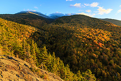 Fall foliage on Mount Madison in New Hampshire's White Mountain National Forest.