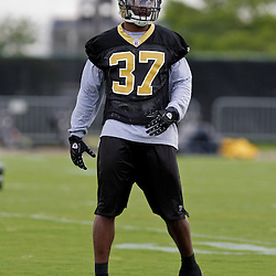 08 May 2009: Saints fourth-round selection safety Chip Vaughn (37)participates in drills during the New Orleans Saints  rookie minicamp held at the team's practice facility in Metairie, Louisiana.