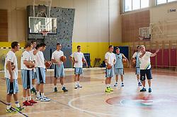 Bozidar Maljkovic (R), head coach during training camp of Slovenian National basketball team for Eurobasket 2013 on July 19, 2013 in Sports hall Rogatec, Slovenia. (Photo by Vid Ponikvar / Sportida.com)