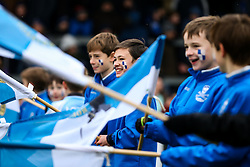 Flag Bearers - Rogan Thomson/JMP - 11/02/2017 - FOOTBALL - Memorial Stadium - Bristol, England - Bristol Rovers v Bradford City - Sky Bet League One.
