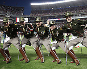 TUSCALOOSA, AL - NOVEMBER 10:  Members of the Texas A&M Corps of Cadets sing during the game between the Alabama Crimson Tide and the Texas A&M Aggies at Bryant-Denny Stadium on November 10, 2012 in Tuscaloosa, Alabama.  (Photo by Mike Zarrilli/Getty Images)