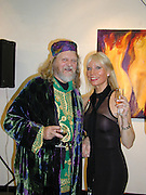 Ulla Ploughmand-Turner, The Marquess of Bath. Private view of 'A Vision of Romance' One Woman show of paintings by Ulla. The Atrium Gallery. Whitleys, Queensway, London. 22/2/00<br />