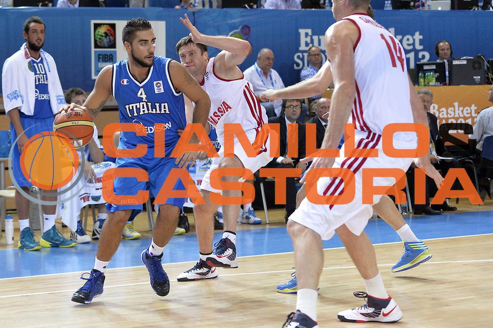 DESCRIZIONE : Capodistria Koper Slovenia Eurobasket Men 2013 Preliminary Round Russia Italia Russia Italy<br /> GIOCATORE : Pietro Aradori<br /> CATEGORIA : Palleggio<br /> SQUADRA : Italia<br /> EVENTO : Eurobasket Men 2013<br /> GARA : Russia Italia Russia Italy<br /> DATA : 04/09/2013<br /> SPORT : Pallacanestro&nbsp;<br /> AUTORE : Agenzia Ciamillo-Castoria/GiulioCiamillo<br /> Galleria : Eurobasket Men 2013 <br /> Fotonotizia : Capodistria Koper Slovenia Eurobasket Men 2013 Preliminary Round Russia Italia Russia Italy<br /> Predefinita :