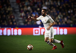 February 24, 2019 - Valencia, Valencia, Spain - Daniel Carvajal of Real Madrid during the La Liga match between Levante and Real Madrid at Estadio Ciutat de Valencia on February 24, 2019 in Valencia, Spain. (Credit Image: © Maria Jose Segovia/NurPhoto via ZUMA Press)