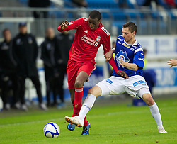 MOLDE, NORWAY - Wednesday, September 7, 2011: Liverpool's Michael Ngoo in action against Molde during the second NextGen Series Group 2 match at Aker Stadion. (Photo by Vegard Grott/Propaganda)