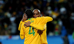 15.06.2010, Ellis Park, Johannesburg, RSA, FIFA WM 2010, Brasilien vs Nordkorea im Bild Maicon feiert mit Juan sein Tor, EXPA Pictures © 2010, PhotoCredit: EXPA/ InsideFoto/ G. Perottino, ATTENTION! FOR AUSTRIA AND SLOVENIA ONLY!!! / SPORTIDA PHOTO AGENCY