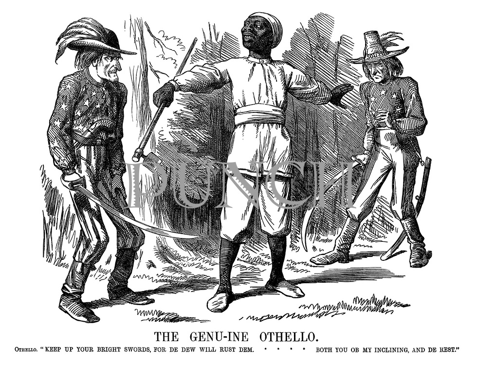 "The Genu-ine Othello. Othello. ""Keep up your bright swords, for de dew will rust dem. Both you ob my inclining, and de rest."""