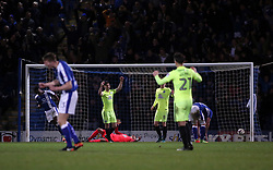 Andrew Hughes of Peterborough United cuts a dejected figure as Chesterfield score the equalising goal - Mandatory by-line: Joe Dent/JMP - 14/03/2017 - FOOTBALL - The Proact Stadium - Chesterfield, England - Chesterfield v Peterborough United - Sky Bet League One