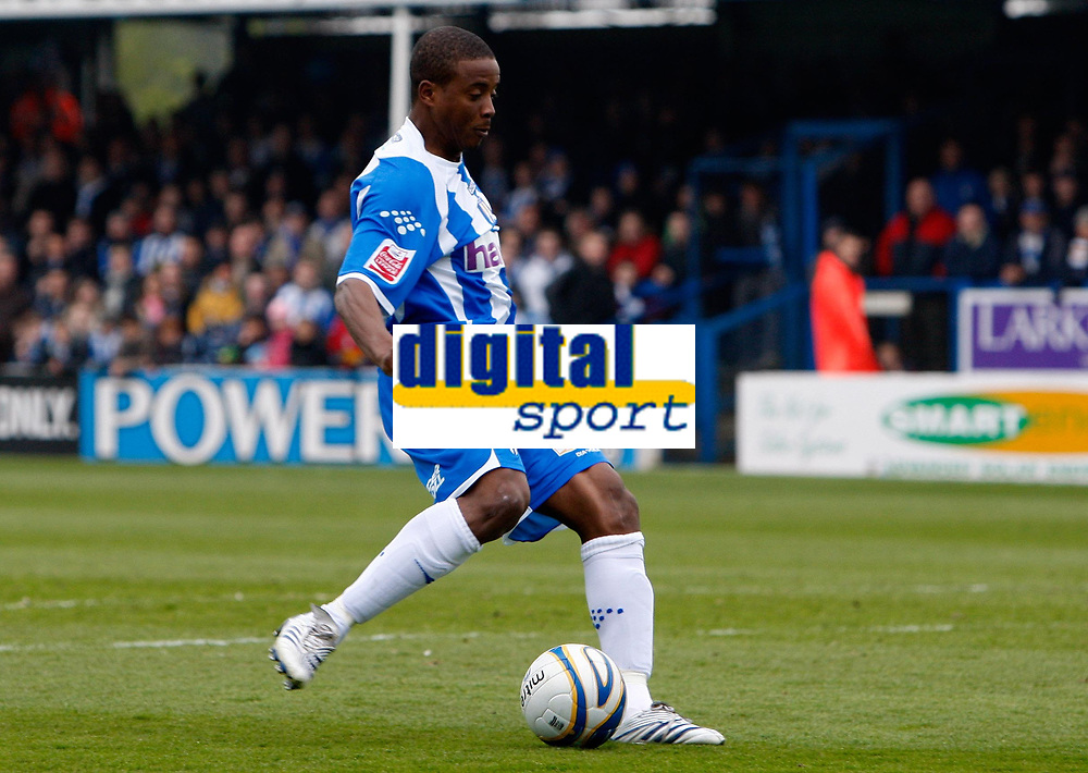 Photo: Richard Lane/Richard Lane Photography. <br /> Colchester United v Coventry City. Coca Cola Championship. 19/04/2008. United's Kevin Lisbie scores a goal.