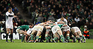 Photo © SPORTZPICS/ SECONDS LEFT IMAGES 2010/ Colm O'Neill  - South Africa's Ruan Pienaar watch as Eoin Reddan of Ireland puts the ball into the scrum - Ireland v South Africa - Guinness Series 2010 - Aviva Stadium - Dublin - Ireland - 06/11/10 - All rights reserved