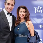 NLD/Amsterdam/20151011 - Inloop premiere De Tweeling, Erik Vogel en Caroline de Bruijn