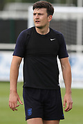 England defender Harry Maguire during the training session for England at St George's Park National Football Centre, Burton-Upon-Trent, United Kingdom on 28 May 2019.