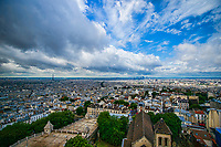 Aerial View of Paris from Basilica de Sacre-Coeur