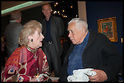 DELLA HOWARD; HOWARD HODGKIN, Masterpiece London 2014 Preview. The Royal Hospital, Chelsea. London. 25 June 2014.