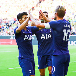 Harry Kane of Tottenham Hotspur celebrates during the Audi Cup match between Real Madrid and Tottenham Hotspur on July 30th 2019<br /> <br /> Photo : Firo  / Icon Sport