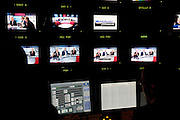 The TG4 debate in Baile na hAbhainn Co. Galway . View from the control room    . Photo:Andrew Downes. .