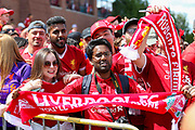 Liverpool fans during the Manchester United and Liverpool International Champions Cup match at the Michigan Stadium, Ann Arbor, United States on 28 July 2018.