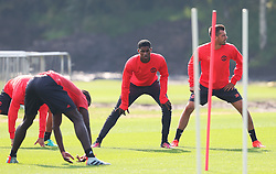 Marcus Rashford of Manchester United warms up - Mandatory by-line: Matt McNulty/JMP - 14/09/2016 - FOOTBALL - Manchester United - Training session ahead of Europa League Group A match against Feyenoord