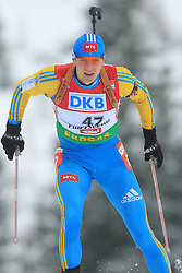 Andriy Deryzemlya (CZE) at Men 20 km Individual at E.ON Ruhrgas IBU World Cup Biathlon in Hochfilzen (replacement Pokljuka), on December 18, 2008, in Hochfilzen, Austria. (Photo by Vid Ponikvar / Sportida)