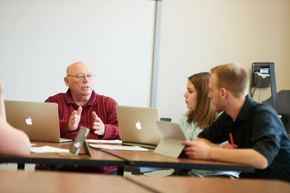 Activity; Talking; Teaching; Buildings; Morris Hall; Location; Inside; Classroom; Objects; Computer; People; Student Students; Professor; Spring; April; Time/Weather; day; Type of Photography; Candid; UWL UW-L UW-La Crosse University of Wisconsin-La Crosse; Gary Willhite School of Education