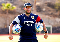 Bristol City head coach Lee Johnson holds training balls during the morning session - Mandatory by-line: Matt McNulty/JMP - 18/07/2017 - FOOTBALL - Tenerife Top Training Centre - Costa Adeje, Tenerife - Pre-Season Training