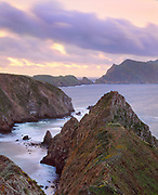0603-2027 ~ Copyright: George H.H. Huey ~                               Anacapa Island from Inspiration Point at sunset.  Channel Islands National Park, California.