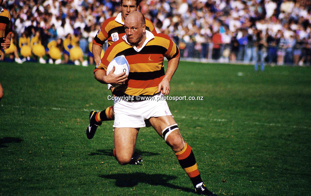 Brent Anderson of Waikato, NPC Rugby 1990. Photo: Andrew Cornaga / Photosport.co.nz