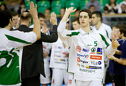 Milorad Sutulovic (5) of Olimpija  at Euroleague basketball match in 6th Round of Group C between KK Union Olimpija and Maccabi Tel Aviv, on December 3, 2009, in Arena Tivoli, Ljubljana, Slovenia. Maccabi defeated Union Olimpija 82-65. (Photo by Vid Ponikvar / Sportida)