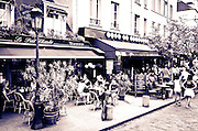 Cafes on Rue de la Bûcherie, Left Bank, Paris, France