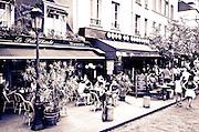 Cafes on Rue de la Bûcherie, Left Bank, Paris, France