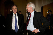 HENRY PORTER; DAVID DAVIS, Vanity Fair, Baroness Helena Kennedy QC and Henry Porter launch ' The Convention on Modern Liberty'. The Foreign Press Association. Carlton House Terrace. London. 15 January 2009 *** Local Caption *** -DO NOT ARCHIVE-© Copyright Photograph by Dafydd Jones. 248 Clapham Rd. London SW9 0PZ. Tel 0207 820 0771. www.dafjones.com.<br /> HENRY PORTER; DAVID DAVIS, Vanity Fair, Baroness Helena Kennedy QC and Henry Porter launch ' The Convention on Modern Liberty'. The Foreign Press Association. Carlton House Terrace. London. 15 January 2009