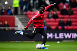 Famara Diedhiou of Bristol City warms up prior to kick off  - Mandatory by-line: Ryan Hiscott/JMP - 22/02/2020 - FOOTBALL - Ashton Gate - Bristol, England - Bristol City v West Bromwich Albion - Sky Bet Championship