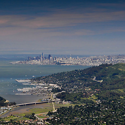 San Francisco from Mt. Tamalpais, Marin County, California, US