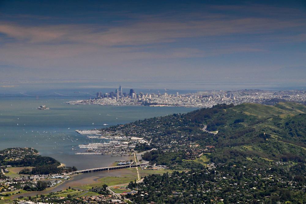 San Francisco from Mt. Tamalpais, Marin County, California, US
