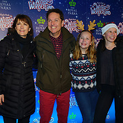 London, England, UK. 16th November 2017. Brian Conley and family attend the VIP launch of Hyde Park Winter Wonderland 2017 for a preview. tomorrow is opening for the public