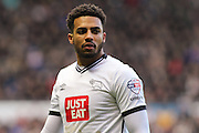 Derby County defender Cyrus Christie during the Sky Bet Championship match between Derby County and Birmingham City at the iPro Stadium, Derby, England on 16 January 2016. Photo by Aaron Lupton.