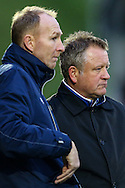Northampton assistant manager, Alan Knill, (left)  with Northampton manager, Chris Wilder, (right) during the Sky Bet League 2 match at Sixfields Stadium, Northampton<br /> Picture by Andy Kearns/Focus Images Ltd 0781 864 4264<br /> 14/11/2015