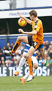 Wolverhampton Wanderers midfielder Dave Edwards gives away a ferric for handball during the Sky Bet Championship match between Queens Park Rangers and Wolverhampton Wanderers at the Loftus Road Stadium, London, England on 23 January 2016. Photo by Andy Walter.