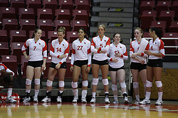 19 November 2010: Redbird Volleyball bench during an NCAA volleyball match between the Sycamores of Indiana State and the Illinois State Redbirds at Redbird Arena in Normal Illinois.