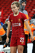 Liverpool women defender Becky Jane (22) during the FA Women's Super League match between Liverpool Women and Everton Women at Anfield, Liverpool, England on 17 November 2019.