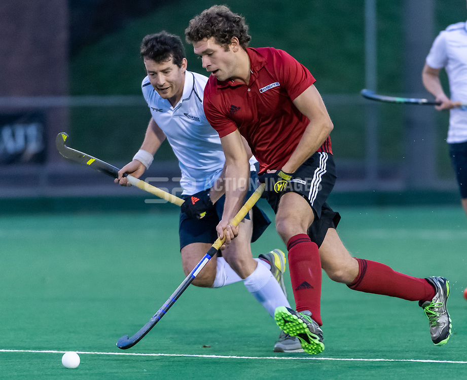 Southgate v Team Bath Buccaneers - Men's Hockey League Division 1 South at Southgate Hockey Centre, Trent Park, London, England on 01 December 2019.<br /> Photo by Simon Parker/SP Action Images