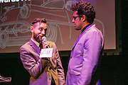 William Bowling and Chris Kaminstein of Goat in the Road Productions at the Arts Council New Orleans Community Arts Awards Celebration at the Civic Theatre December 2, 2015