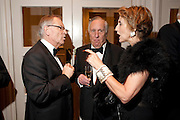 LORD JEFFREY ARCHER; SIR FREDERICK FORSYTH; LADY FORSYTH, 80th anniversary gala dinner for the FoylesÕ Literary Lunch. Ballroom. Grosvenor House Hotel. Park Lane. London. 21 October 2010. -DO NOT ARCHIVE-© Copyright Photograph by Dafydd Jones. 248 Clapham Rd. London SW9 0PZ. Tel 0207 820 0771. www.dafjones.com.<br /> LORD JEFFREY ARCHER; SIR FREDERICK FORSYTH; LADY FORSYTH, 80th anniversary gala dinner for the Foyles' Literary Lunch. Ballroom. Grosvenor House Hotel. Park Lane. London. 21 October 2010. -DO NOT ARCHIVE-© Copyright Photograph by Dafydd Jones. 248 Clapham Rd. London SW9 0PZ. Tel 0207 820 0771. www.dafjones.com.