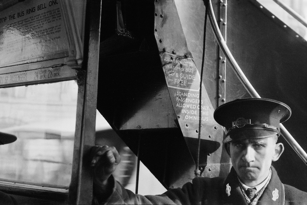 Bus Conductor, London, 1934