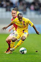 FOOTBALL - FRENCH CHAMPIONSHIP 2010/2011 - L2 - STADE DE REIMS v US BOULOGNE - 15/04/2011 - PHOTO GUILLAUME RAMON / DPPI - CEDRIC FABIEN (BOULOGNE)