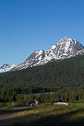 Camping by the Kenai Mountains, Alaska, USA<br /> <br /> Photographer: Christina Sjogren<br /> <br /> Copyright 2018, All Rights Reserved