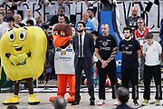 Inno nazionale italiano, DOLOMITI ENERGIA TRENTINO vs EA7 EMPORIO ARMANI OLIMPIA MILANO, gara 3 Finale Play off Lega Basket Serie A 2017/2018, PalaTrento Trento 9 giugno 2018 - FOTO: Bertani/Ciamillo