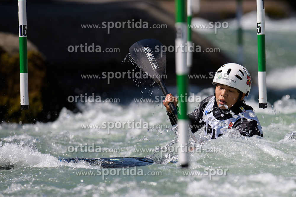 Aki YAZAWA of Japan during the Canoe Single (WK1) Womens Semi Final race of 2019 ICF Canoe Slalom World Cup 4, on June 28, 2019 in Tacen, Ljubljana, Slovenia. Photo by Sasa Pahic Szabo / Sportida