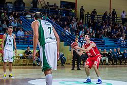 Stanko Sebic of KK Tajfun Sentjur during basketball match between KK Krka Novo mesto and KK Tajfun Sentjur at Superpokal 2015, on September 26, 2015 in SKofja Loka, Poden Sports hall, Slovenia. Photo by Grega Valancic / Sportida.com